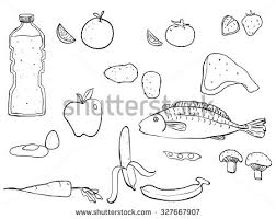 healthy food drawing set