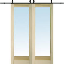 MMI Door 72 In. X 96 In. Clear 1 Lite Unfinished Poplar Double ... 75 8 10 12 13 15 Ft Antique Black Wooden Double Sliding Barn 82ft Closet Door Heavy Adjustable Bypass Spanbarn Hdware Systemspan Beautiful This Is A American Pro Decor Solid Steel Rolling Backyards Featured Image Lowes Installation Traditional Kit Hingeless And Mmi 72 In X 80 Primed 15lite With Double For Two Doors Track