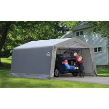shelterlogic shed in a box canopy storage shed 12l x 12w x 8h ft
