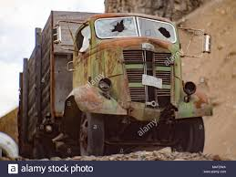 A Green 1937 GMC Cabover Truck, In An Old Stone Quarry, East Of ...