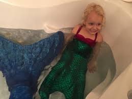 best babysitter ever dresses up like a mermaid to surprise three