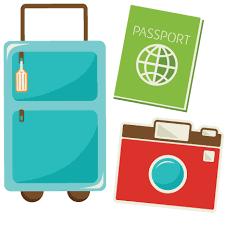 Travel Set SVG Scrapbook Cut File Cute Clipart Files For Silhouette Cricut Pazzles Free Svgs Svg Cuts