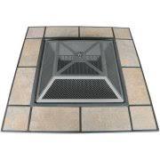 axxonn tuscan ceramic tile top pit black antique bronze