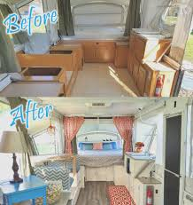 Small Rv Remodel Before And After Unique This Is My Pop Up Renovation On