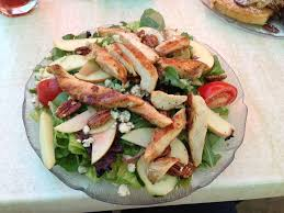 Patio Cafe Fresno California by Mixed Green Salad With Apples Candied Pecans Blue Cheese