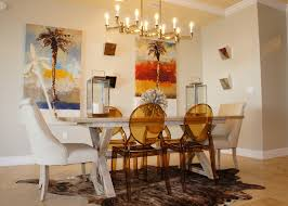 Contemporary Dining Room White Themes Color Panels With Cool Glass Chandeliers Over Luxury Set On Sweet Rugs Also Amazing