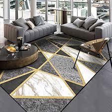 dear jy teppich moderne schwarz weiß grau marmor gold linie kreuz geeignet für schlafzimmer nacht wohnzimmer küche bodenmatte teppiche 160 230cm
