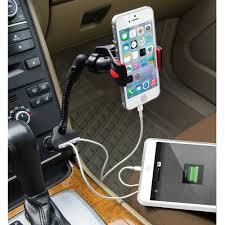 The Dual iPhone Charging Car Mount Hammacher Schlemmer