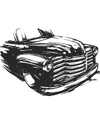 100 50s Chevy Truck Front End Black And White Art By