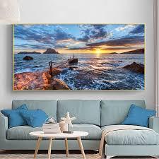 meer strand brücke landschaft bilder leinwand malerei hd