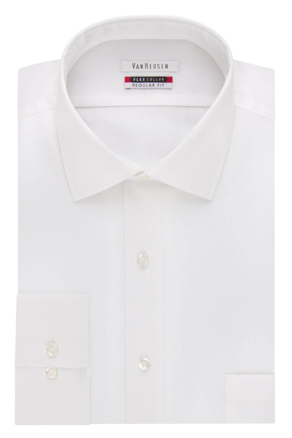 Van Heusen Men's Regular Fit Flex Collar Dress Shirt - White - 16.5 32/33