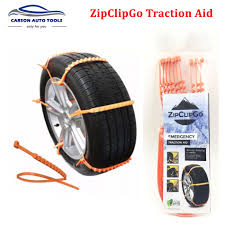10pcs/set New Life Saver ZipClipGo Emergency Traction Aid Tire Snow ...