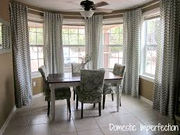 Dining Room In Need Of Curtains Chevron Window Panels