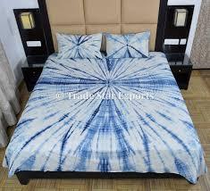 Blue Tie Dye Bedding by Trade Star Exports Designer Bedspreads