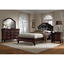 Value City Furniture Headboards King by Monticello Piece King Sleigh Bedroom Set Pecan Value City And