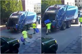 Portland Investigates Truck Workers Caught On Video Mixing Trash And ... Kids Truck Videos Garbage Trucks Crush More Stuff Cars Truck Drivers Special Delivery For Young Fan Photos George The Real City Heroes Rch For Separation Anxiety 99 Invisible Wasted In Washington A Blog About Strongsville Could Pay 19 Percent More Trash Collection By 20 Children With Blippi Learn 2019 New Freightliner M2 106 Trash Video Walk Around L Throwing Bags Into The Disney Pixar Lightning Mcqueen Toy Story Inspired