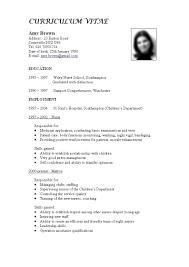 Resume Format For Lecturer Post