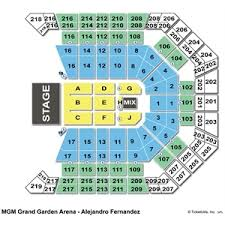 Mgm Grand Floor Plan by Mgm Grand Garden Arena Seating Charts