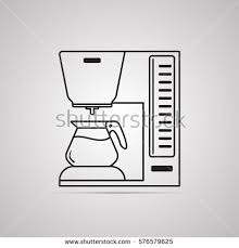 Coffee Maker Illustration Of Drinks Types Machine Symbol Drip