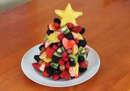 A Beautifully Colorful And Edible Healthy Fruit Christmas Tree