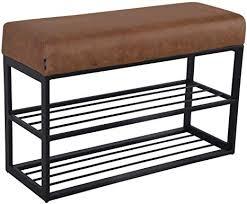 damiware couchy schuhregal schuhbank schuhaufbewahrung sitzbank mit polsterung für den eingangsbereich flur schlafzimmer 80 x 30 x 58 cm