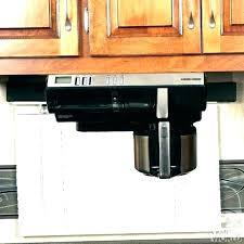 Under The Counter Coffee Maker Cabinet Makers Black