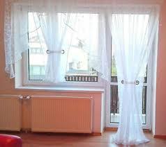details zu fertiggardine aus voile balkon set schöne weiße gardine hg wohnzimmer