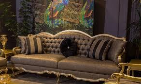 casa padrino luxus barock sofa grau gold 243 x 78 x h 105 cm edles wohnzimmer sofa mit dekorativen kissen barock wohnzimmer möbel