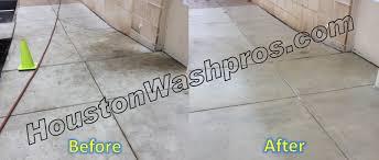 concrete cleaning pressure washing houston pressure washing