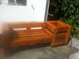 Pallet Combo Garden Bench Planter Benches Chairs StoolsPallet Planters