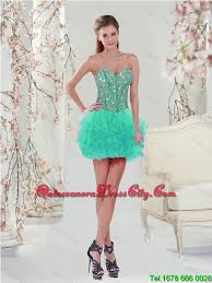 Pretty 2016 Sweetheart Beaded And Ruffles Detachable Sweet 16 Dresses