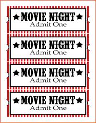 Admit One Ticket Template Free Printable Movie Vastuuonminun