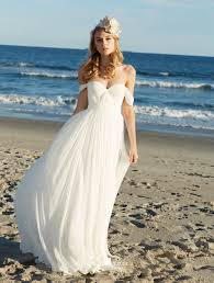 Off The Shoulder Chiffon Beach Wedding Dress Sweetheart Boho Bridal Gown Custom Plus Size Available On