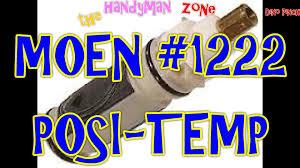 Moen Bathroom Sink Faucet Cartridge Replacement by Moen Posi Temp Part 1222 Cartridge Replacement Youtube