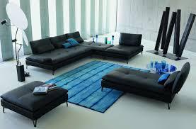 100 Roche Bobois Leather Sofa SCENARIO Modular Sofa Design Sacha Lakic