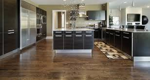 Awesome Rectangle Area Rug Also Black Cabinets Feat Square Island Idea And Great Dark Wood Kitchen
