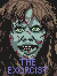 Halloween Hama Bead Patterns by The Exorcist Poster Perler Bead Pattern Bead Sprite Crafts