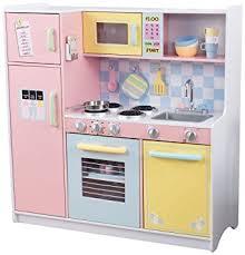 cuisine bois kidkraft kidkraft cuisine enfant en bois large pastel amazon fr jeux et