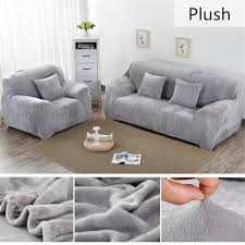 großhandel vollfarbige plüsch verdicken elastisch sofa abdeckung universal sektionalzusätze 1 2 3 4 sitzer aus stretch abdeckung für wohnzimmer