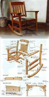Stickley Rocking Chair Plans by Arts U0026 Crafts Rocking Chair Plan Furniture Plans And Projects