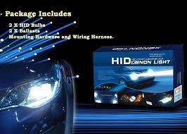 auto pearl car hid light kit bulbs h4 6000k high intensity