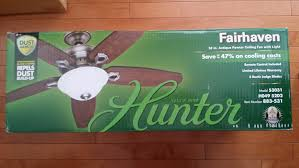 Hunter Fairhaven Ceiling Fan Manual by Ceiling Fan Light Fixture And Light Kit Indoor Brushed Nickel 3
