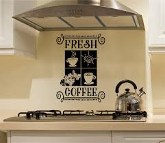 Fresh Coffee Vinyl Decal Wall Stickers Letters Words Farm Kitchen Decor