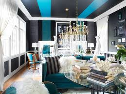 Brown And Teal Living Room by Glamorous Living Room Mixes It Up Hgtv