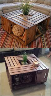 how to build a crate coffee table rustic coffee tables crates