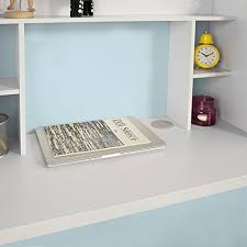 bureau blanc avec rangement sobuy fwt18 w table murale bureau avec étagère intégrée armoire de