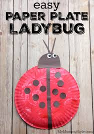 Easy Paper Plate Ladybug Craft