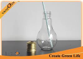 cap 400ml empty glass light bulb jar with custom logo printing