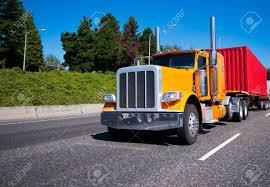 100 Semi Truck Exhaust Classic Bonnet Legendary Popular Bright Orange Big Rig