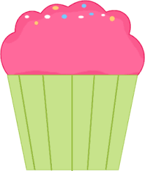 Pink And Green Cupcake Clipart 1